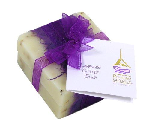 Pelindaba Lavender Handmade Castile Soap Bar with Lavender Essential Oil – 3 oz each (2 bar pack)