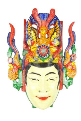 Interact China Chinese Drama Home Wall Decor Opera Mask 100% Wood Craft Folk Art #125 Pro Level