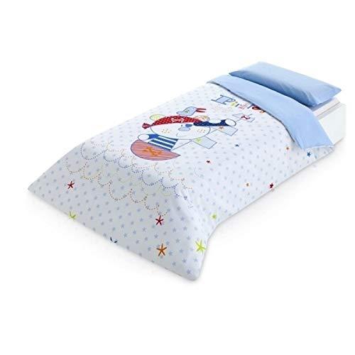 Pirulos Pirate Bettbezug, 160 x 260 cm, Blau