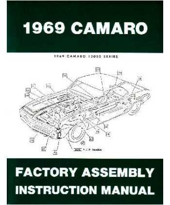amazon com 1969 chevrolet camaro assembly manual book rebuild rh amazon com 69 Camaro SS 69 Camaro RS
