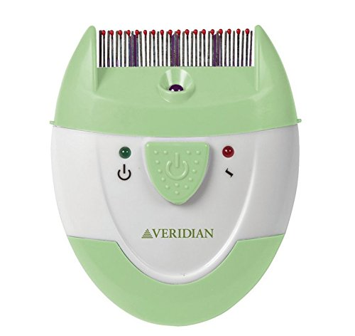 Veridian Healthcare Finito Electronic Lice Comb, Green/White - Veridian Green