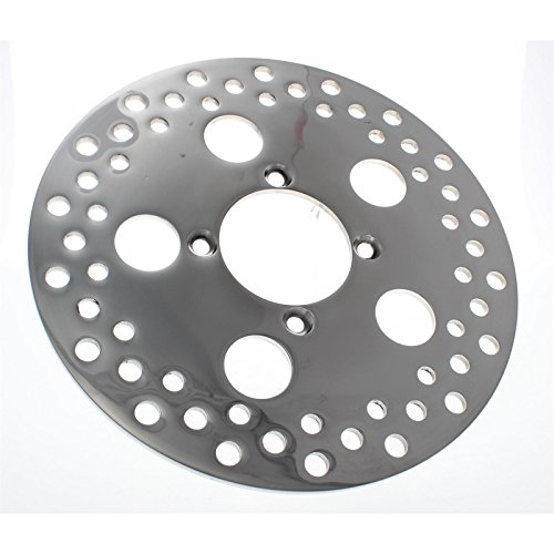 Front Polished Stainless Steel Replacement Brake Rotor, 1/4 x 10 Inch (Front 10 Inch Rotor)