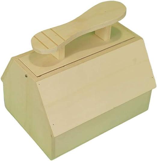 Caja betún. En madera de chopo en crudo, se puede pintar. Medidas: 27 * 20 * 25 cms: Amazon.es: Hogar
