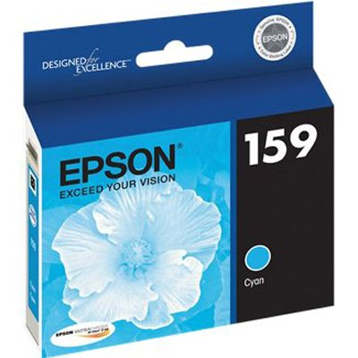 Epson UltraChrome Hi-Gloss2 159 Ink Cartridge - Cyan - Inkjet