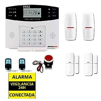 Alarma Hogar AZ028 2 GSM Castellano 2 Detectores movimiento ...