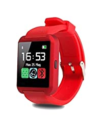 Smartwatch U8 Color Rojo Bluetooth Reloj Inteligente - Compatible iOS / Android