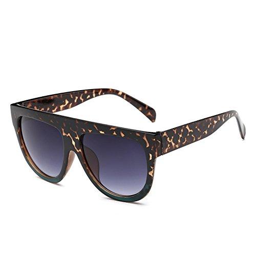 TIANLIANG04 Bastidor Viajes G Hombre Gafas Sol 9 De Gafas De C6 Frame Tonos Mujer Unas Enormes Leopardblack362 Leopard Gradiente Uv Vintage Sol ZrqwZ7