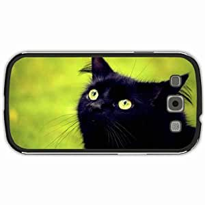 New Style Customized Back Cover Case For Samsung Galaxy S3 Hardshell Case, Black Back Cover Design Cat Personalized Unique Case For Samsung S3 wangjiang maoyi by lolosakes