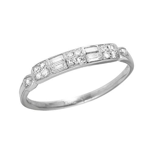 0.5 Carat Natural Diamond 950 Platinum Wedding Band for Women Size 9.5 (Diamond Ring 950 Platinum Rings)