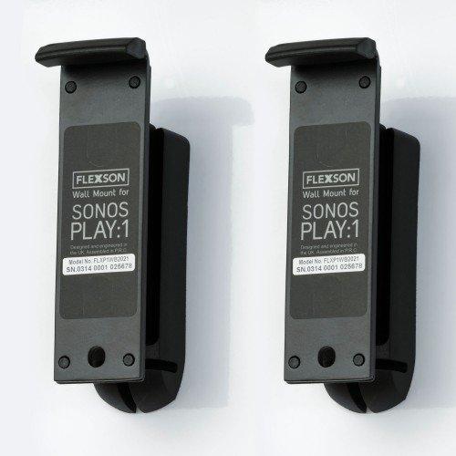 FLEXSON FLXP1WB2021 Wall Bracket for Play:1 SONOS Speakers - Black - Pair