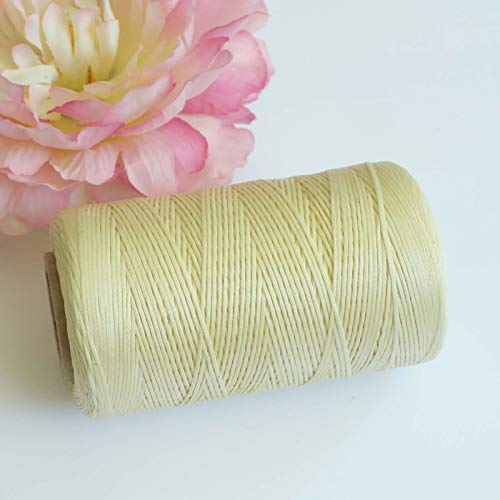 150D1MM 260m Leather Sewing Waxed Thread for Chisel Awl Upholstery Shoes Luggage (Color - Ivory) ()