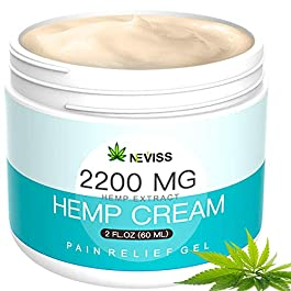 Natural Hemp Cream for Pain Relief, Active Hemp Oil Cream, Organic Hemp Herbal Extract Cream for Back, Knee, Neck, Nerve…