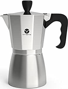 vremi stovetop espresso maker moka pot coffee maker for gas or electric stove top