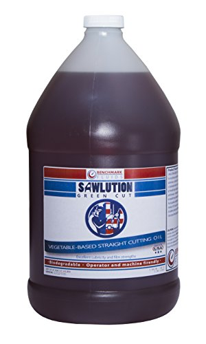 Benchmark Fluids Sawlution GreenCut - 1 Gallon Renewable and Biodegradable Cutting Fluid, 1 gal, Jug (Fluid Band Saw Cutting)