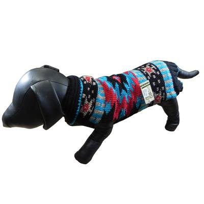 Handmade Dog Sweater Wool Navajo Shawl Small by Chilly Dog