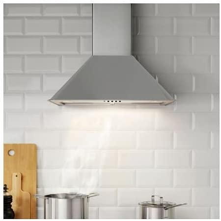 VINDRUM – pared campana extractora, acero inoxidable: IKEA of Sweden: Amazon.es: Hogar