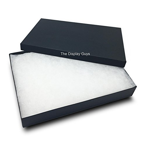 The Display Guys, Pack of 25 Black 5 3/8x3 7/8x1 inches Cotton Filled Paper Jewelry Box Gift Display Case (#53)