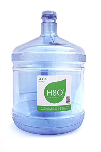 H8O Polycarbonate 3 gallon Stubby Water Bottle (with Handle) with 48mm Cap (3 Gallon Plastic Water Bottle)
