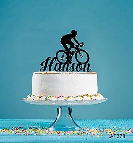 Decoración para tartas de cumpleaños de bicicleta ...