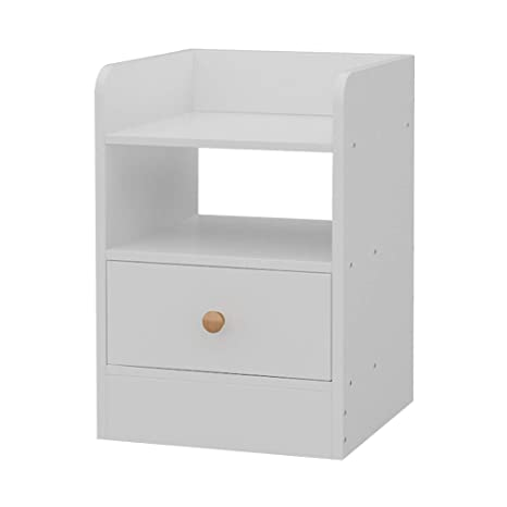 Furniture Bedside Cabinet Storage Shelf Night Table Nightstand Bedroom w//Drawers