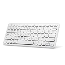 "Anker Ultra Compact Slim Profile Wireless Bluetooth Keyboard with Rechargeable Battery [Compatible with New iPad 9.7""/iPad Pro 10.5""/iPad Pro 12.9""]"