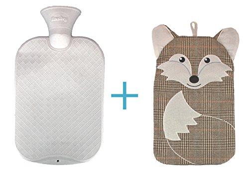 Custom Water (Fashy Hot Water Bottle with custom cover COMBO set (Fox))