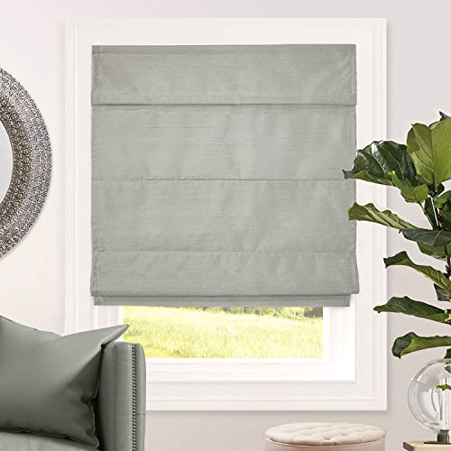 CHICOLOGY Cordless Roman Shades Blackout Lining Cascade Window Blind, 48' W X 64' H, Lux Stone (Room Darkening)