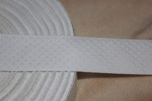 Ribbon Art Craft Decoration 2 Yards White Waffle Weave Textured Craft Ribbon Trim 1
