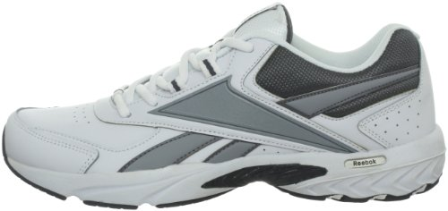 Reebok Men's Daily Cushion RS Walking Shoe,White/Grey,10 M US