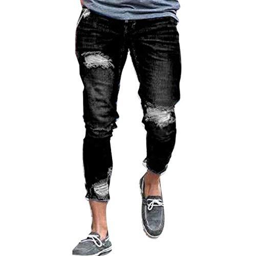 Especial Jeans Fashion Streetwear Destroyed Ufig Holes Chern Pantaloni 1 Denim Slim Estilo Uomo Fit Skinny Strech aaqnxzR