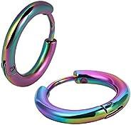 Huggie Hoop Earrings Piercing Jewelry 316l Surgical Stainless Steel Cartilage Helix Lobes Hinged Sleeper Earri