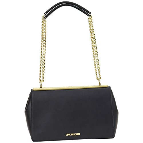 Love Moschino Women's Embossed Top Logo Flap Over Shoulder Handbag by Love Moschino
