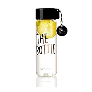 The Bottle Transparent Bucket Pail Water Bottle BPA Free (Black)