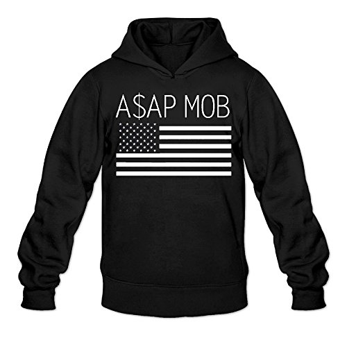 DVPHQ Men's Superior A$ap Mob Flag Hoodies Size L Black