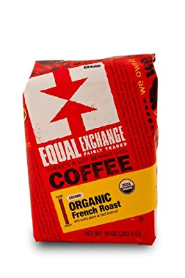 Equal Exchange Organic Coffee, French Roast, Ground, 10-Ounce Bag