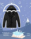 Wantdo Girl's Hooded Ski Fleece Jacket Waterproof
