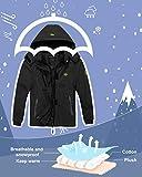 Wantdo Girl's Hooded Ski Fleece Jacket Windproof