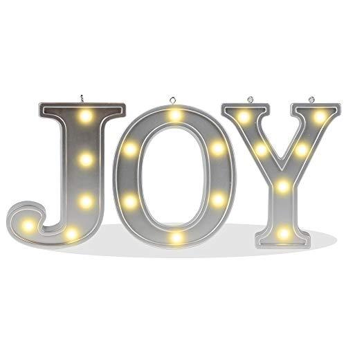 (DELICORE Decorative Illuminated Marquee Word Sign (Silver Color 4.21