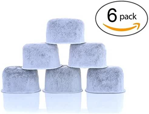 6-Pack KEURIG Compatible Water Filters by K&J - Universal Fit (NOT CUISINART) Keurig Compatible Filters - Replacement Charcoal Water Filters for Keurig 2.0 (and older) Coffee Machines