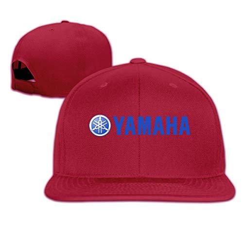 Syins Mens DesignedCasual Strapback Cap Yamaha-Logo Classic Baseball-Cap Dark Red