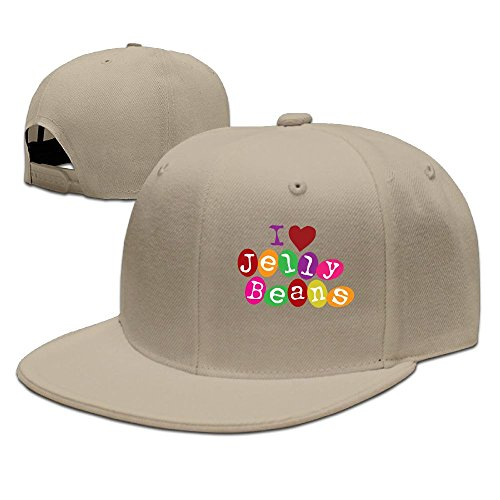 - CaCaJessica Men I Love Jellybeans Funny Travel Natural Caps Hats Adjustable Snapback