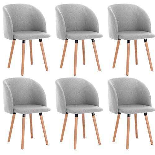 Woltu set di 6 sedie da cucina con schienale poltroncina for Set sedie cucina