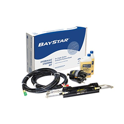 SeaStar Baystar, HK4200A-3, Hydraulic Steering Kit with Compact Cylinder, 20' Tubing