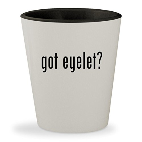 Making Memories Scrapbooking Eyelet (got eyelet? - White Outer & Black Inner Ceramic 1.5oz Shot Glass)
