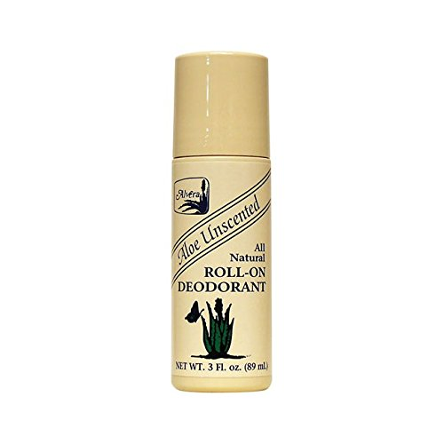 Unscented Natural Aloe (Alvera All Natural Roll-On Deodorant, Aloe Unscented, 3 Fluid Ounce)