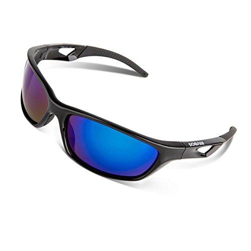 RIVBOS Polarized Sports Sunglasses Driving Glasses for Men Women Tr90 Unbreakable Frame (Sunglasses Mens Polarized Sunglasses)
