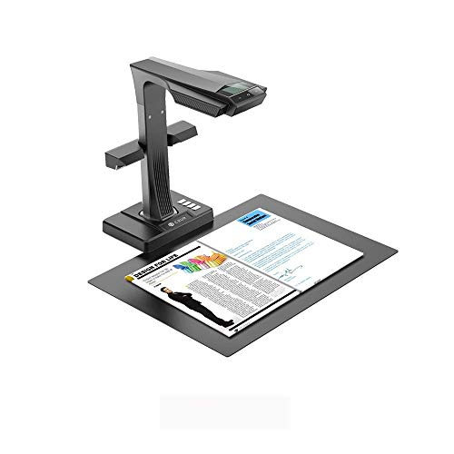 CZUR ET16-P Professional Document Camera Scanner with 2nd Gen Laser Curve-Flattening Tech, Perfect for Bound Documents & Books, Smart OCR for Mac and Windows
