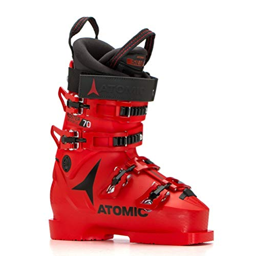 (Atomic Redster Club Sport 70 LC Junior Race Ski Boots - 21.5/Red-Black)