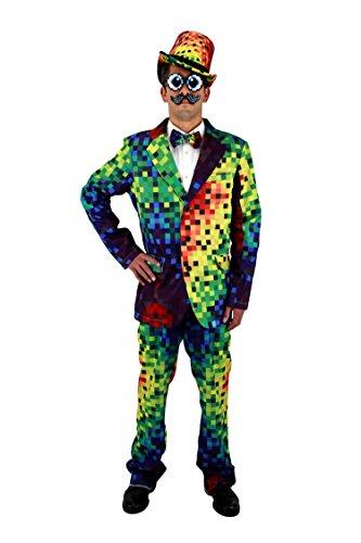 elope Rainbow Pixel Pants (Rainbow Bright Fancy Dress)