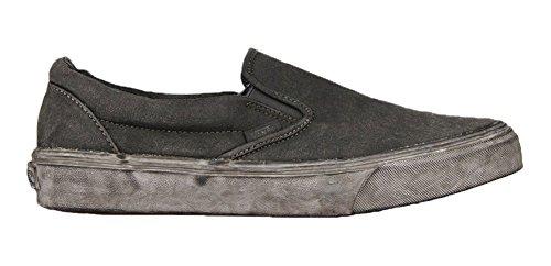 Adulte Slip Noir black Baskets on Mixte Paisley overwash Basses Vans Plus Classic Sxaq004